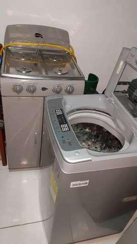 Vendo lavadora lg de 19 libras  y estufa