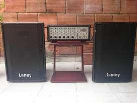 Sonido PA Consola Amplificada Cabezote Laney Cabinas Laney