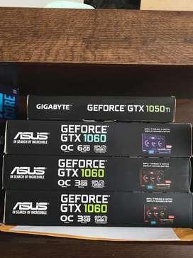 Tarjetas de video Usadas en buen estado con caja GTX 1060 GTX 1050TI