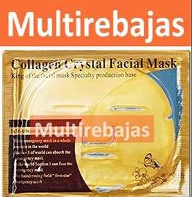 Nueva Máscara Facial De Cristal De Colágeno Oro