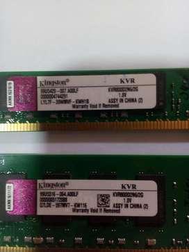 02 Memorias RAM de 2GB cada una