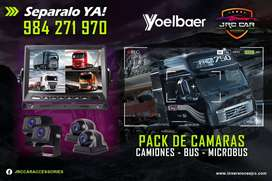 Kit Monitor 9 Pulgadas +  Cámaras Para Camiones Buses