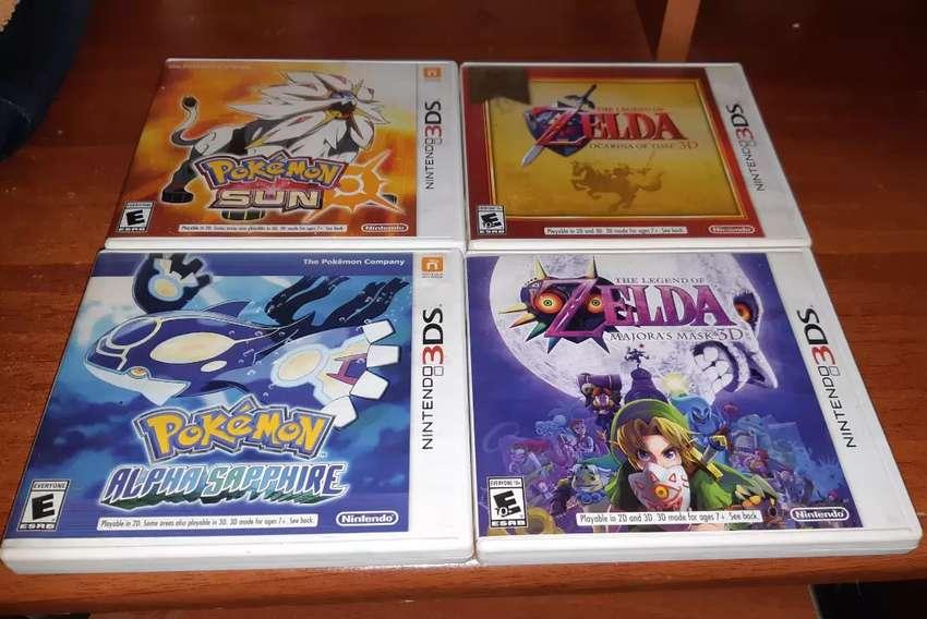Vendo juegos de nintendo 3DS Pokemon Sol , Zelda Ocarina of Time y Pokemon Alpha Zafiro 0