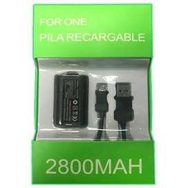 Carga Y Juega Kit Para Cargar El control Xbox One Pila Bateria Y Cable
