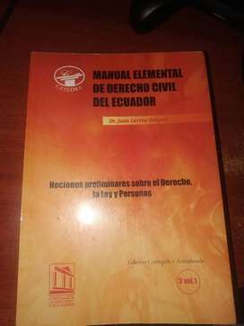 Libro Manual Elemental De Derecho Civil Del Ecuador