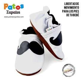 Zapatos bebes para empezar andar. Primeros zapatos para caminar Mostacho.