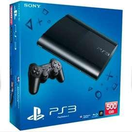 Play Station 3 Ultra Slim 500 gb, 2 Jostick con 6 juegos