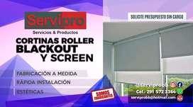 Cortinas Roller Blackout-Screen
