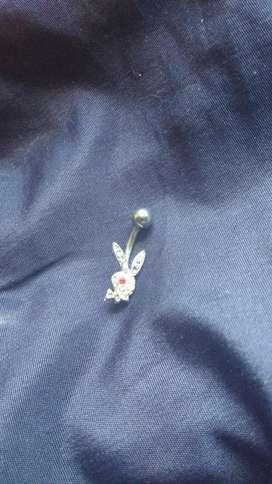 Piercing ombligo de acero quirrgico