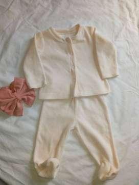 conjunto, pantalón y saco baby fresh 0-3 meses