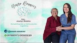 Psicóloga especialista en demencias y enfermedades neurodegenerativas