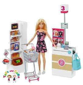 Nuevo Original Barbie en el supermercado con 25 accesorios