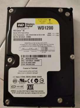 Se vende disco duro 120 full sata+ unidad de DVD como nueva