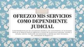 Se Ofrece Dependiente Judicial