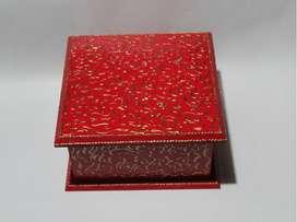 Caja de té decorada estilo antiguo, 16 cm x 16 cm