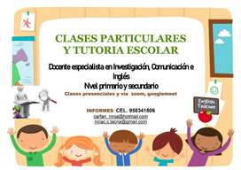 Clases particulares y tutoria escolar