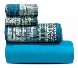 Juego de sábanas Arcoiris 2 1/2 plazas 180 hilos 100% algodón