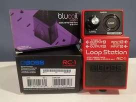 Vendo pedal Boss RC1 loop station + ac adapter segunda mano  Los Monjes