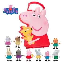 Peppa Pig LONCHERA Y SUS AMIGOS 10PIEZAS