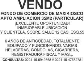 PARTICULAR VENDE FONDO DE COMERCIO MAXIKIOSCO, ZONA CENTRO LA PLATA