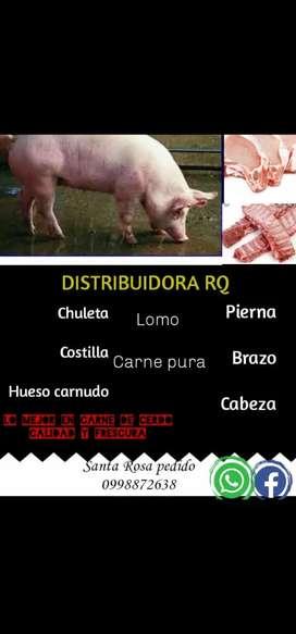Se vende cerdos en pie  y por piezas