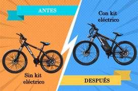 Kit conversión eléctrica bicicleta