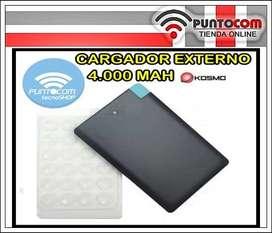 CARGADOR PORTATIL-4000MAH-PUERTO  MICRO USB-SOPAPA ADHERENTE