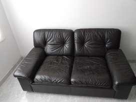 Sofa Cafe de Cuero