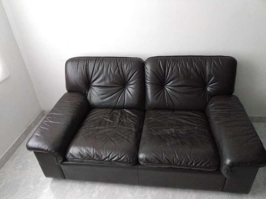 Sofa Cafe de Cuero 0