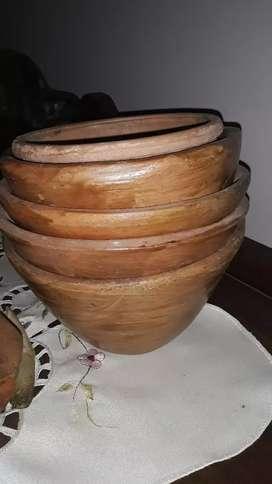Vendo 5 Cacuela de ceramica