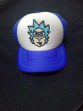 Gorra azul Rick Sánchez Pixel Art