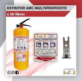 EXTINTOR ABC MULTIPROPOSITO X 20 LB