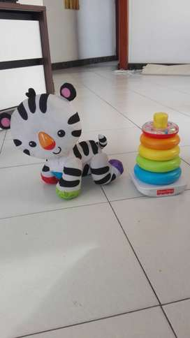 Zebra Fisher price y torre de colores