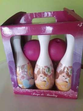 Juego de bowling princesa