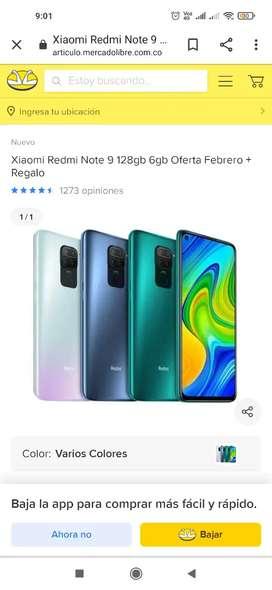 Vendo celular Xiaomi redmi note 9