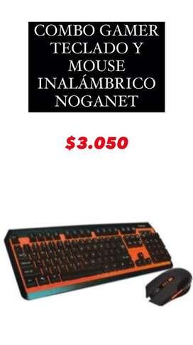 COMBO GAMER (TECLADO + MOUSE INALÁMBRICO)