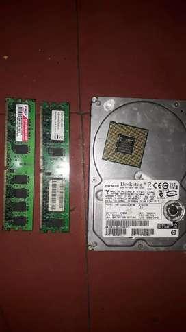 Vendo disco duro 2 memorias ram