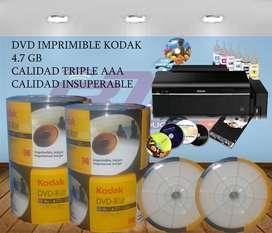 Dvd Kodak Imprimible 4.7gb (50 Dvd)