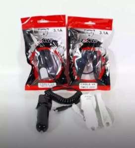 Cargador Rápido 3.1A Cable y usb extra