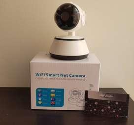 Cámara IP Robótica 360° Wifi con Autoseguimiento - Visión Nocturna - Audio Doble Via Aplicación V380