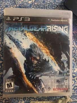 METAL GEAR RISING PS3 original