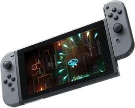 COMBO! Nintendo Switch Gris+ Case Negro+ Splatoon 2