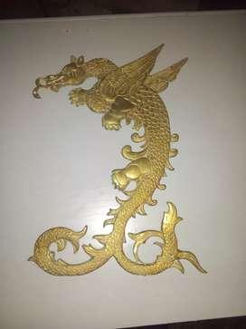 Vendo dragon de bronce maciso