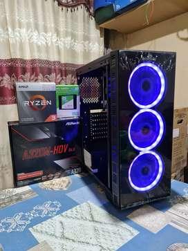 PC GAMER RYZEN 3 3200G 4.0Ghz 8GB 2X4 RAM DDR4 SSD SOLIDO 240 HDMI PC A ESTRENAR WINDOWS 10 GARANTIA