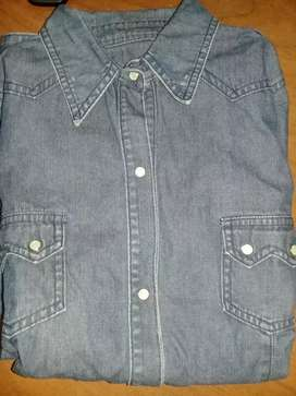 Camisa jeans mujer
