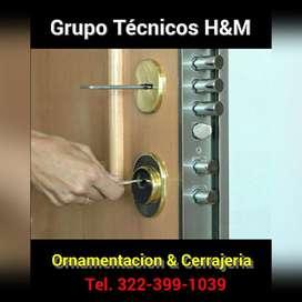 Chapas de Seguridad en Madrid, Cerrajeros, Cerrajería, Ornamentación, Refuerzos de Puertas en Madrid - Mosquera Cund.