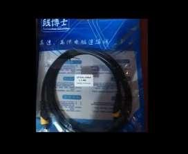 Cable De Tipo Optico 1.8 metros Negro