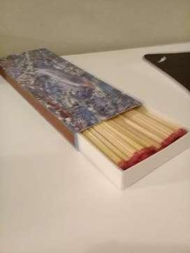 Caja de Fosforos x 100 unid. Largos 28 cm