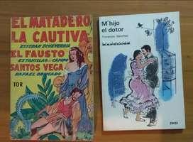 libros M' Hijo el Doctor + El Matadero la Cautiva