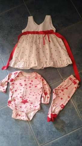 Vestido y conjunto Akiabara beba